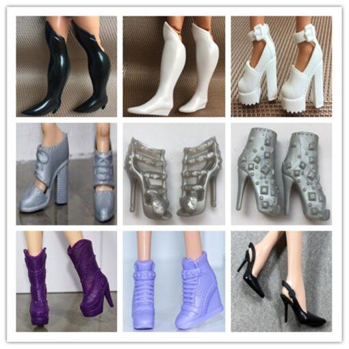 Original Doll Shoes High Heels Super Model FR Body Figure Doll Shoes 1 6 Doll Casual