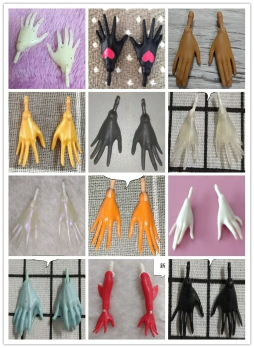 Original Monstering High Doll Replacement Hands Elbows Fish Man Snow Queen Ghost Clear Doll Accessories Parts