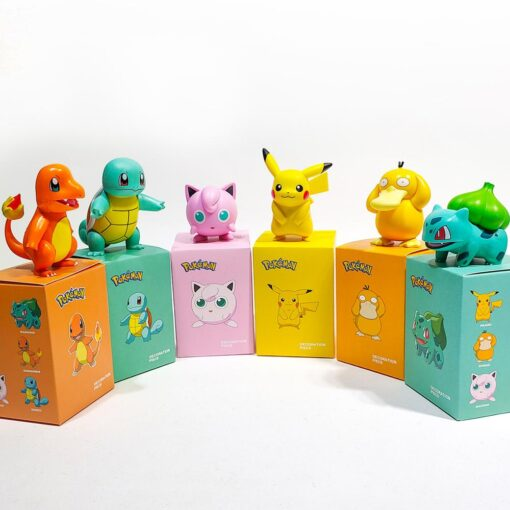 Original Pokemon Pikachu Figures Dolls Cartoon Pok mon Squirtle Charmander Psyduck Purin Anime Model Toys Kids 3