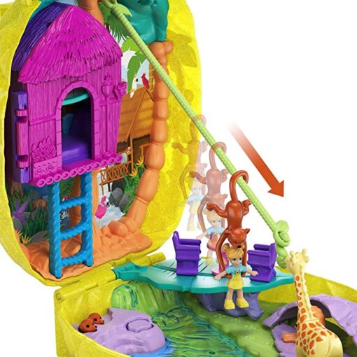 Original Polly Pocket Girls Dolls Family House Car Kids Toys Polly Accessories Mini Pocket Dolls for 1