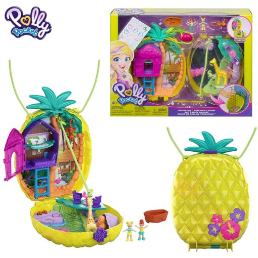 Original Polly Pocket Girls Dolls Family House Car Kids Toys Polly Accessories Mini Pocket Dolls for