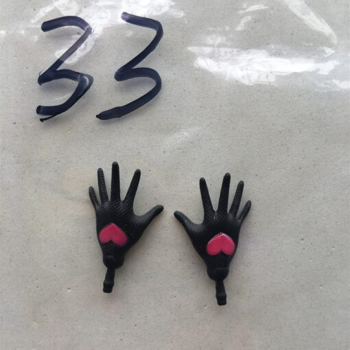 Original Replacement Doll Hands Black White Blue Fish Lady Monstering High Doll Toy Parts Kids Playing 4