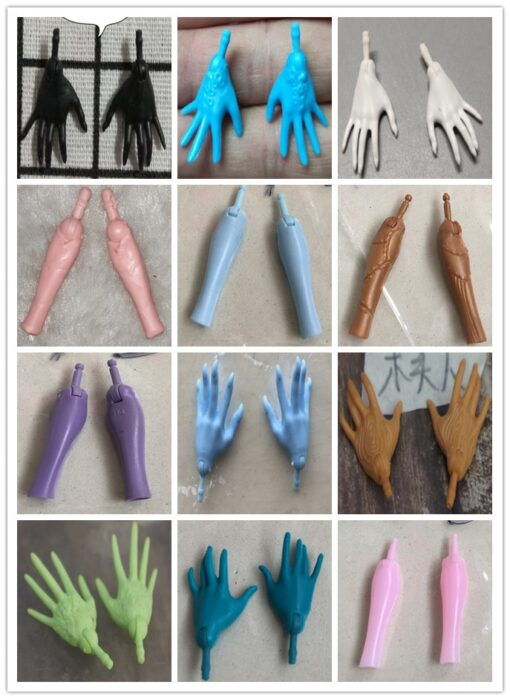Original Replacement Doll Hands Black White Blue Fish Lady Monstering High Doll Toy Parts Kids Playing