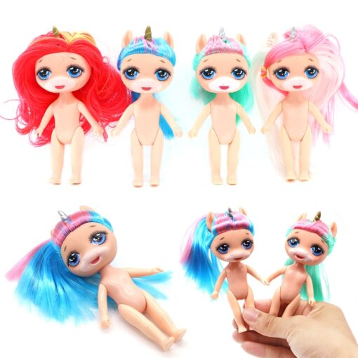 Original lolo Doll Figure Action Toy figure surprise Poopsies Silcone Slime Unicorn BJD Sister Dolls Toy 5