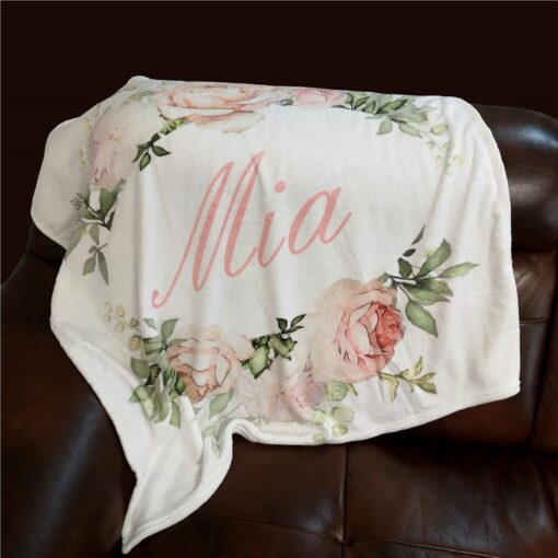 Personalized Baby Blanket Swaddling Baby Bedding Crib Swaddle Flower Cartoon Newborn Infant Gift Baby Bed Blanket