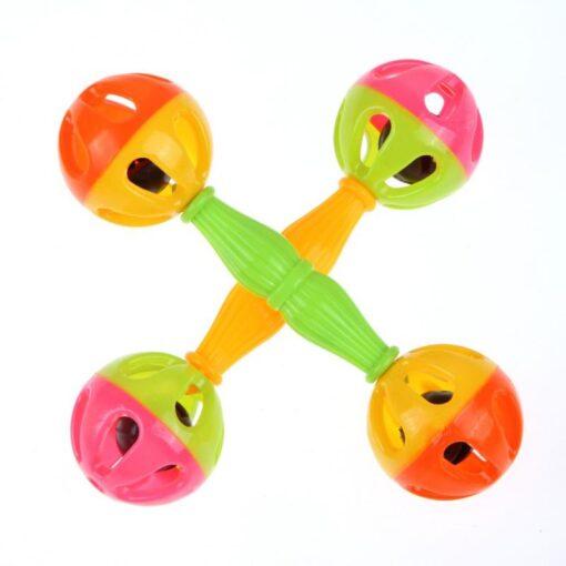Plastic Infant Baby Rattles Toys Infant Music Lovely Hand Shake Bell Ring Bed Crib Newborn Educational 2