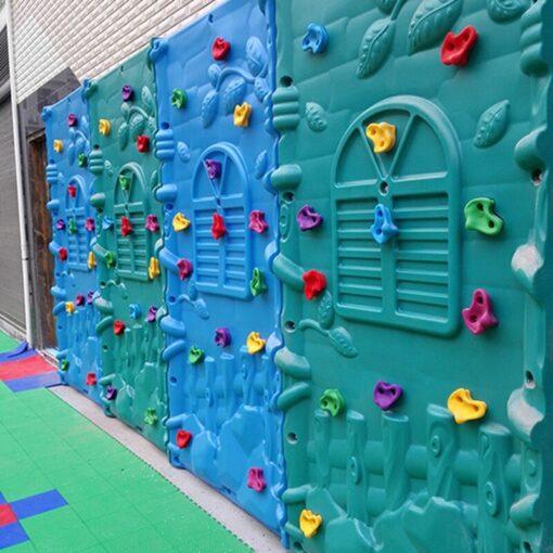 Plastic Kids Rock Climbing Toys for Children Wood Wall Stones Plastic Indoor Outdoor Climbing Rock Hand 4