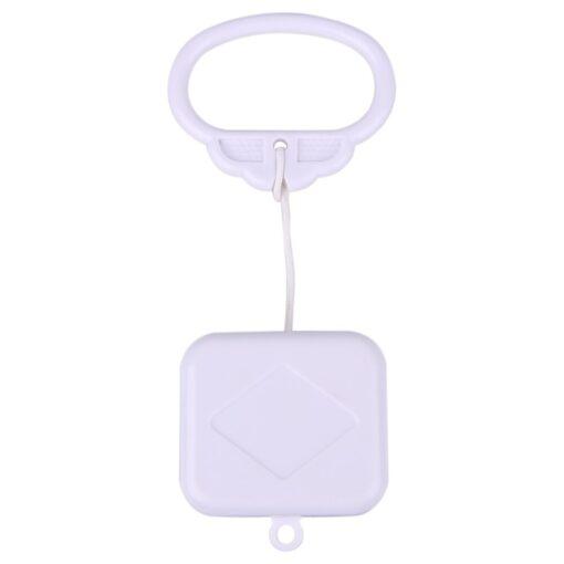 Plastic Pull String Clockwork Cord Music Box Pull Ring Music Box White ABS Baby Kids Bed 2