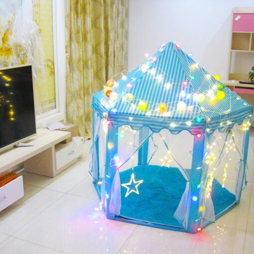 Play House Game Tent Toys Ball Pit Pool Portable Foldable Princess Folding Tent Castle Gifts Tents 4