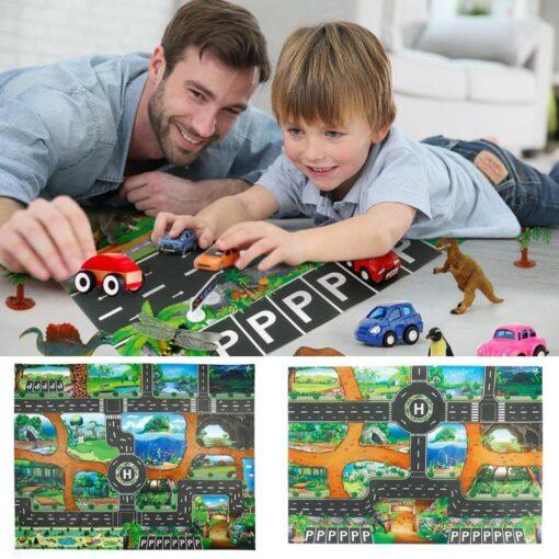 Play mats Road For Kids Dinosaur Park Carpet Gym Baby Crawling mat Eva Foam Baby Play 3