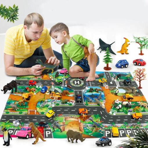 Play mats Road For Kids Dinosaur Park Carpet Gym Baby Crawling mat Eva Foam Baby Play 4