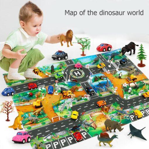 Play mats Road For Kids Dinosaur Park Carpet Gym Baby Crawling mat Eva Foam Baby Play