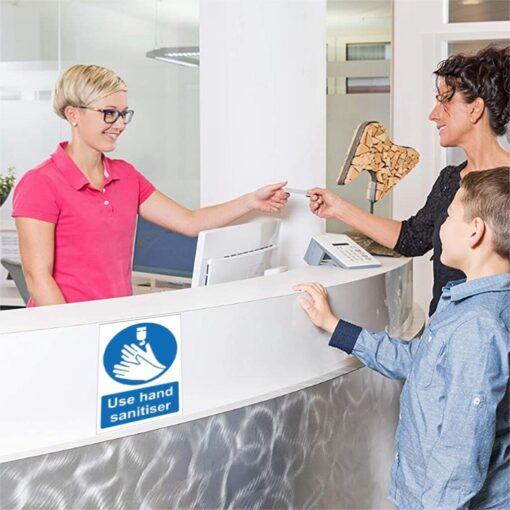 Please Use Hand Sanitiser Please Sign Notice Sticker Office Restaurant Cafe s Bathroom Decoration Sticker 150mm 2