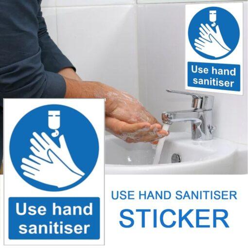Please Use Hand Sanitiser Please Sign Notice Sticker Office Restaurant Cafe s Bathroom Decoration Sticker 150mm