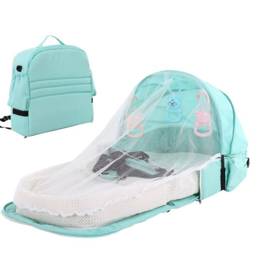 Portable Baby Bed Folding Baby Bed Nest Cot For Travel Foldable Bed Bag With Mosquito Net 1