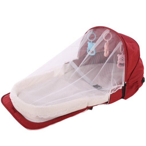 Portable Baby Bed Folding Baby Bed Nest Cot For Travel Foldable Bed Bag With Mosquito Net 2