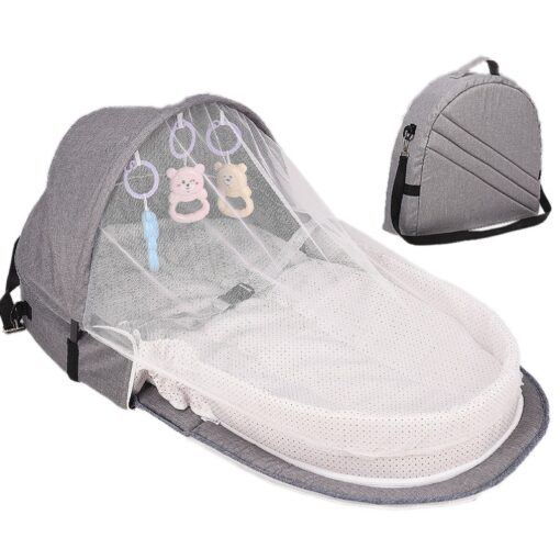 Portable Baby Bed Folding Baby Bed Nest Cot For Travel Foldable Bed Bag With Mosquito Net