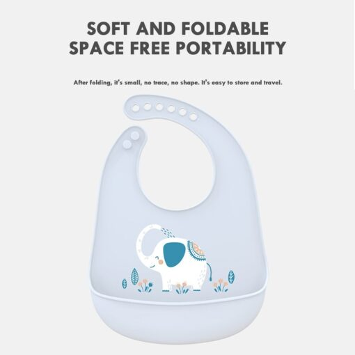 Portable Baby Bib Adjustable Cute Animal Shape Kid Feeding Arpon Waterproof Saliva Dripping Bibs Soft Edible 1