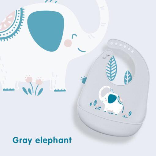 Portable Baby Bib Adjustable Cute Animal Shape Kid Feeding Arpon Waterproof Saliva Dripping Bibs Soft Edible 4