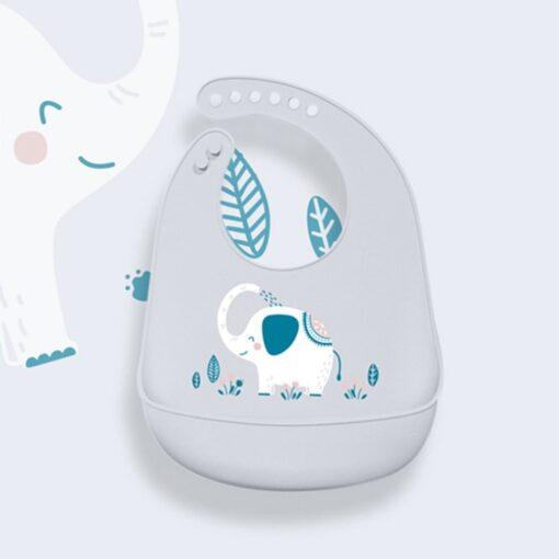 Portable Baby Bib Adjustable Cute Animal Shape Kid Feeding Arpon Waterproof Saliva Dripping Bibs Soft Edible 5
