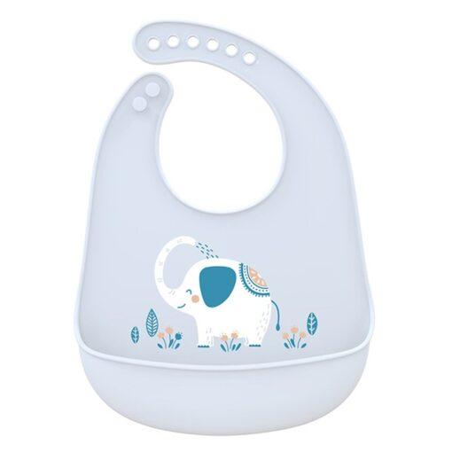 Portable Baby Bib Adjustable Cute Animal Shape Kid Feeding Arpon Waterproof Saliva Dripping Bibs Soft Edible
