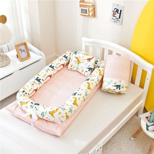 Portable Baby Bionic Bed Cotton Cradle Baby Bassinet Bumper Folding Sleep Nest for Toddler Newborn Travel 2