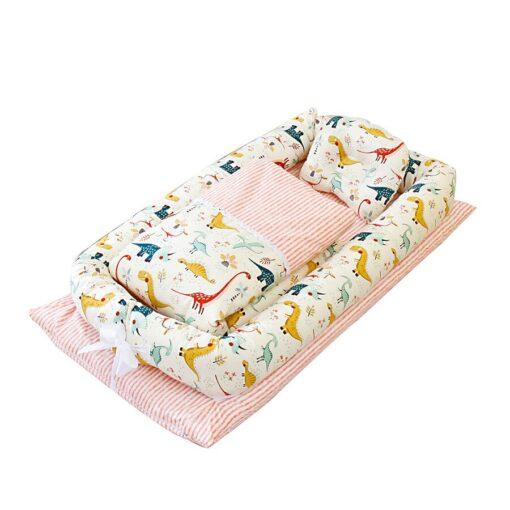 Portable Baby Bionic Bed Cotton Cradle Baby Bassinet Bumper Folding Sleep Nest for Toddler Newborn Travel 4