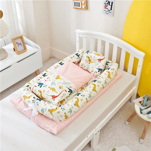 Portable Baby Bionic Bed Cotton Cradle Baby Bassinet Bumper Folding Sleep Nest for Toddler Newborn Travel