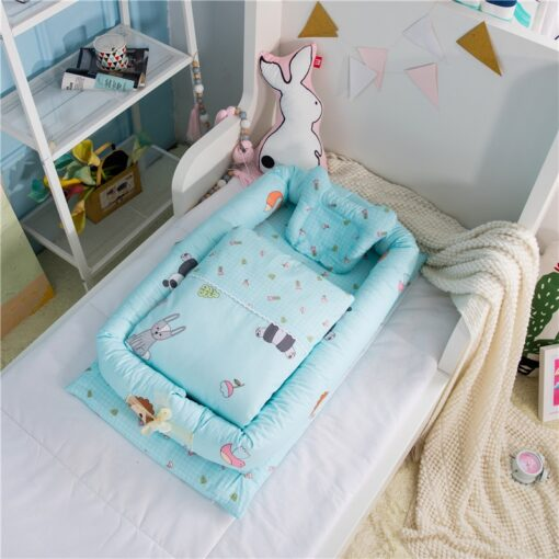 Portable Baby Crib With Quilt Infant Toddler Cradle Cot For Newborn Nursery Travel Folding Baby Nest 1