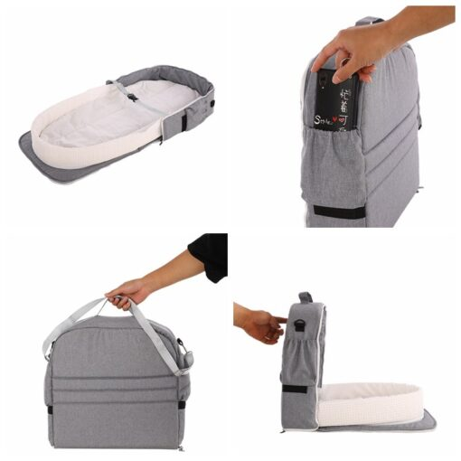 Portable Bassinet For Baby Bed Foldable Baby Bed Bag Newborn Travel Indoor Bed Backpack Bed Breathable 1