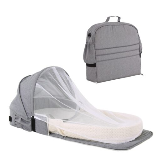 Portable Bassinet For Baby Bed Foldable Baby Bed Bag Newborn Travel Indoor Bed Backpack Bed Breathable 2