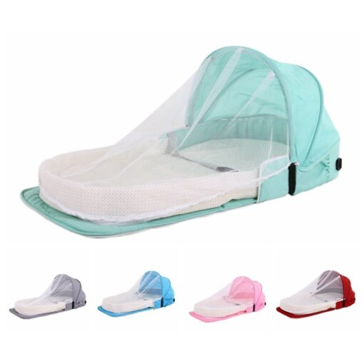 Portable Bassinet For Baby Bed Foldable Baby Bed Bag Newborn Travel Indoor Bed Backpack Bed Breathable