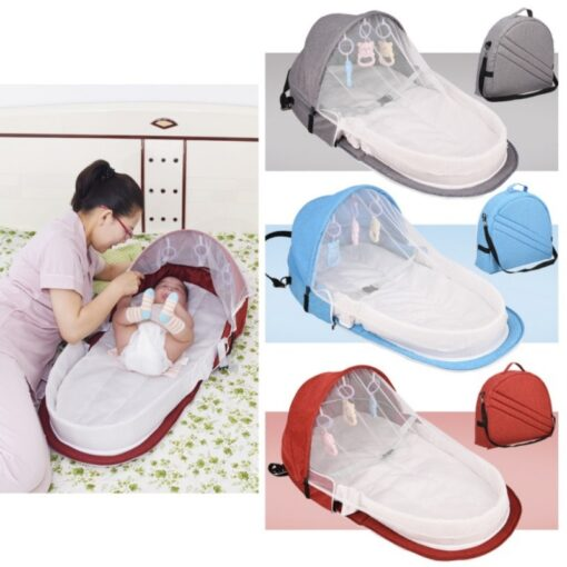 Portable Bed Foldable Baby Bed Travel Sun Protection Mosquito Net Breathable Soft Cribs Infant Sleeping Basket 1