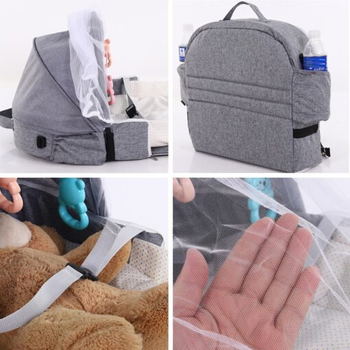 Portable Bed Foldable Baby Bed Travel Sun Protection Mosquito Net Breathable Soft Cribs Infant Sleeping Basket 4
