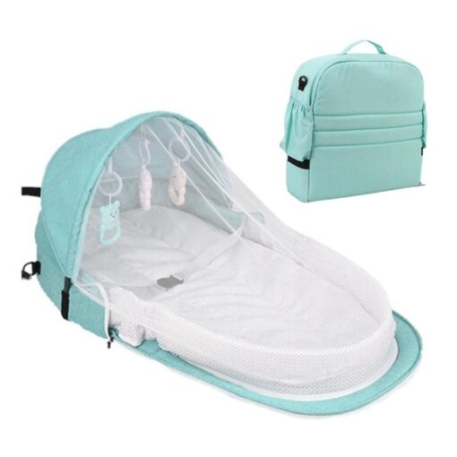 Portable Bed Foldable Baby Bed Travel Sun Protection Mosquito Net Breathable Soft Cribs Infant Sleeping Basket