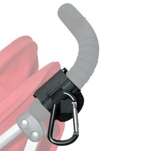 Portable Convenient Baby Stroller Buggy Mom Hooks Pushchair Hanger Prop Hanger Metal Convenient Hook Baby Stroller 4