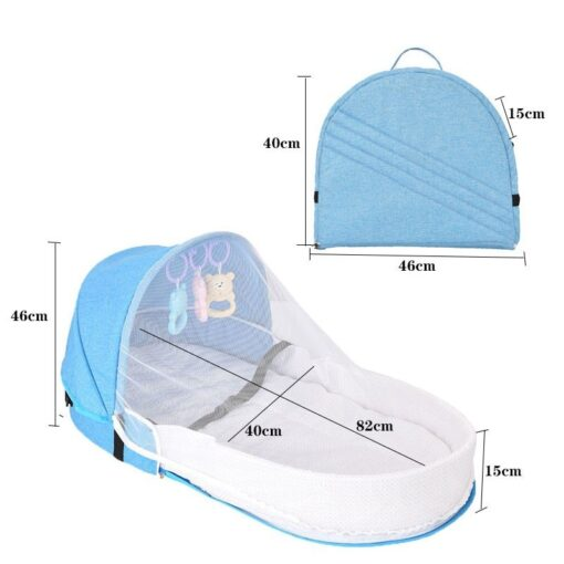 Portable Crib Mom Nurisng Bag Travel Mosquito Net Baby Bed Sun Protection Foldable Breathable Infant Sleeping 1