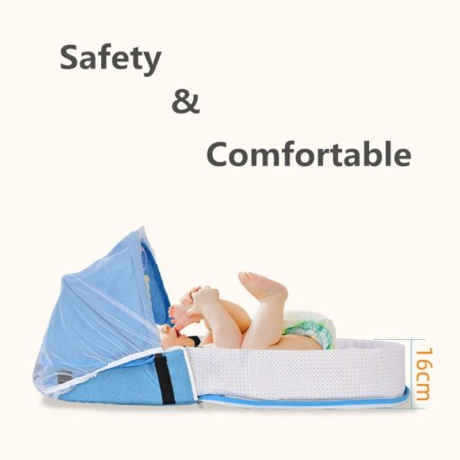 Portable Crib Mom Nurisng Bag Travel Mosquito Net Baby Bed Sun Protection Foldable Breathable Infant Sleeping 2