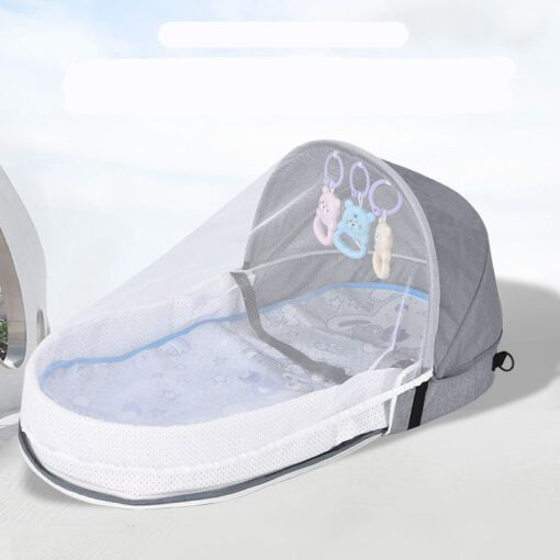 Portable Crib Mom Nurisng Bag Travel Mosquito Net Baby Bed Sun Protection Foldable Breathable Infant Sleeping 3
