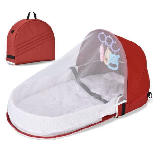 Portable Crib Mom Nurisng Bag Travel Mosquito Net Baby Bed Sun Protection Foldable Breathable Infant Sleeping 4