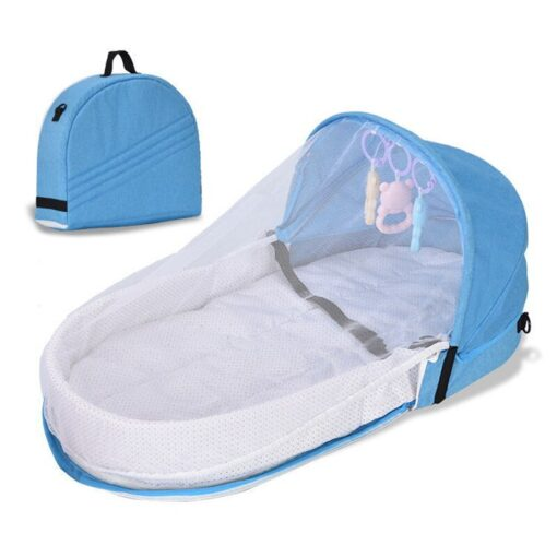 Portable Crib Mom Nurisng Bag Travel Mosquito Net Baby Bed Sun Protection Foldable Breathable Infant Sleeping 5