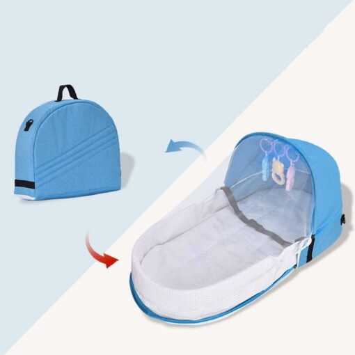 Portable Crib Mom Nurisng Bag Travel Mosquito Net Baby Bed Sun Protection Foldable Breathable Infant Sleeping