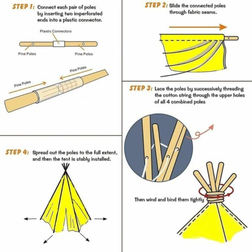 Portable Indian Children s Tent for Kids Cotton Carva Tipi Teepee Kids Tent Children s House 4