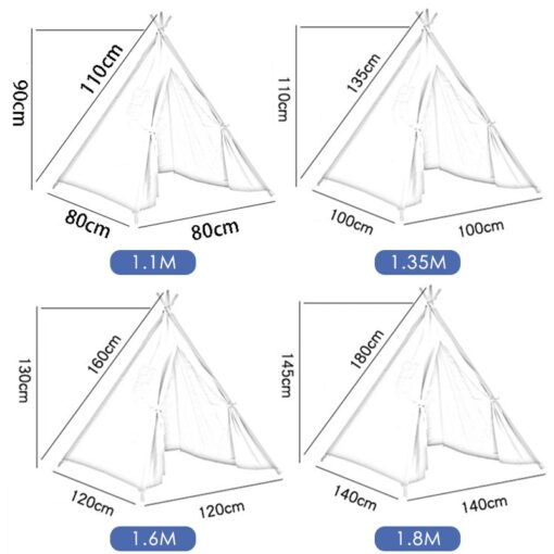 Portable Indian Children s Tent for Kids Cotton Carva Tipi Teepee Kids Tent Children s House 5