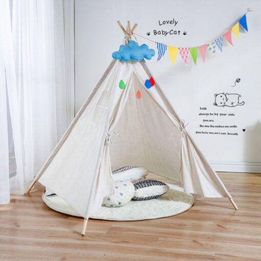 Portable Indian Children s Tent for Kids Cotton Carva Tipi Teepee Kids Tent Children s House