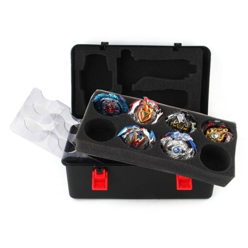 Portable Plastic Storage Carrying Case Box Spinning Top Organizer for Beyblade Burst Gyro Launcher Boys Kids