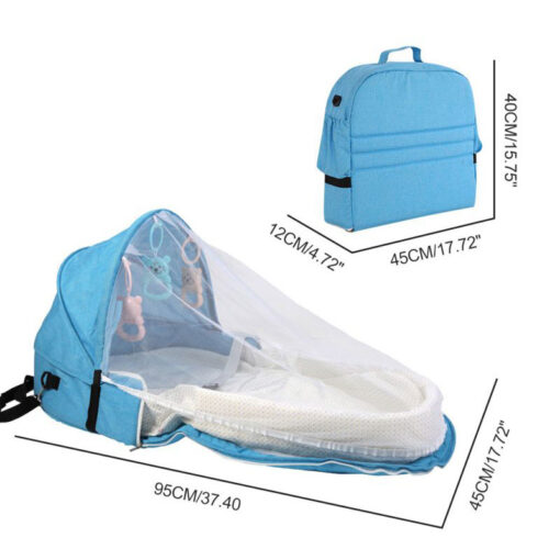Portable Travel Baby Nest Multi function Baby Bed Crib with Mosquito Net Foldable Babynest Bassinet Infant 5