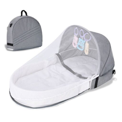 Portable Travel Baby Nest Multi function Baby Bed Crib with Mosquito Net Foldable Babynest Bassinet Infant