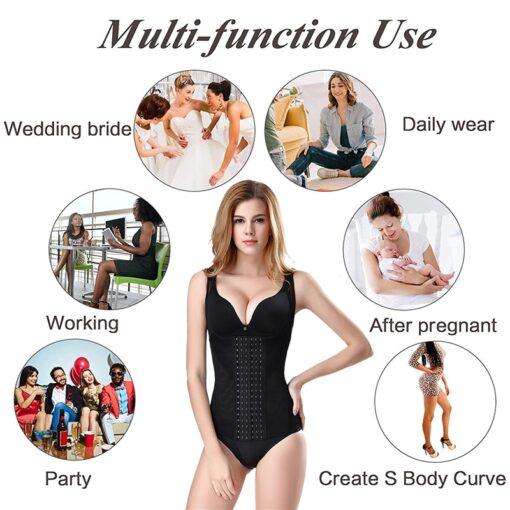 Postpartum Bandage Women Waist Trainer Vest Breathable Shapewear Weight Loss Tank Top Shirt Workout Corset Reducing 4