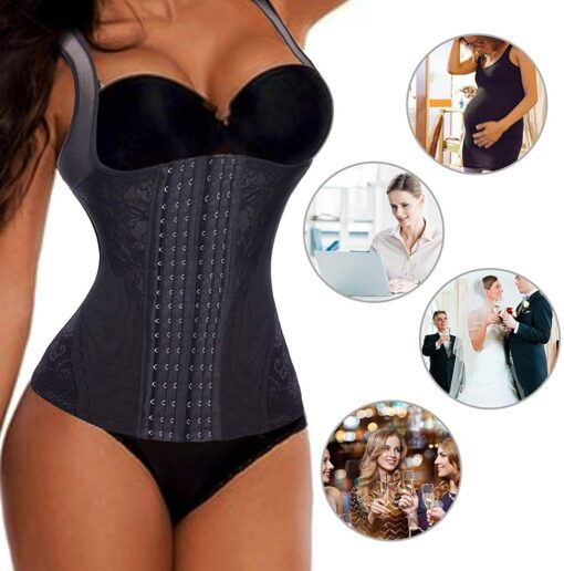 Postpartum Bandage Women Waist Trainer Vest Breathable Shapewear Weight Loss Tank Top Shirt Workout Corset Reducing 5